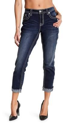 Miss Me Embroidered Slim Boyfriend Jeans