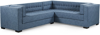 Chic Home Lorenzo Indigo Linen Textured Right Sectional