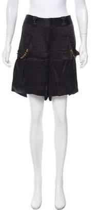Mayle Silk Mid-Rise Shorts