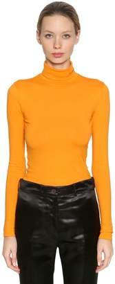 Calvin Klein Turtleneck Cotton Jersey Top