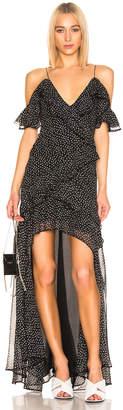 Jonathan Simkhai Speckle High Low Dress in Black & White Print | FWRD