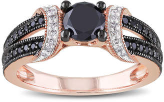 Black Diamond MODERN BRIDE Midnight 1 CT. T.W. White and Color-Enhanced 10K Rose Gold Ring
