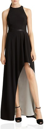HALSTON HERITAGE High-Low Crepe Gown $325 thestylecure.com