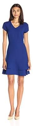 Lark & Ro Women's Tiered Flounce Hem Dress