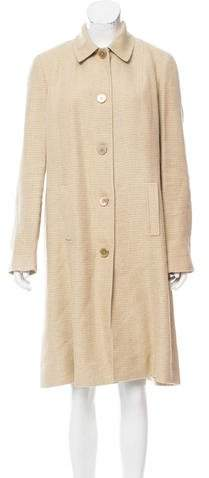 Ralph Lauren Black Label Linen-Blend Tweed Coat