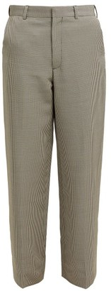 Raey Houndstooth Trousers - Womens - Black Multi