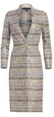 St. John Women's Bobbie Knit Three-Quarter Sleeve Sequin Topper - Caviar Multi - Size 6