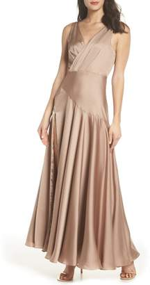 Fame & Partners The Escala Satin Gown