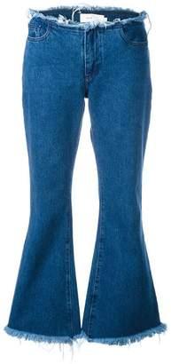 Marques Almeida Marques'almeida frayed flared jeans