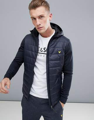 Lyle & Scott Fitness fitness grasmoore quilted body jacket in black