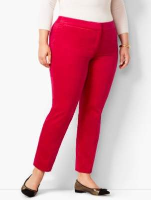 Talbots Plus Size Hampshire Velveteen Ankle Pants