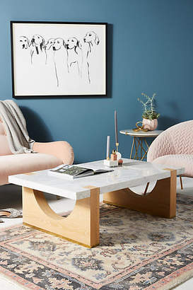 Anthropologie Polished Marble Coffee Table