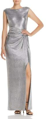 Ralph Lauren Sleeveless Metallic Gown