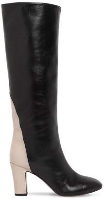 Couture Gia 80mm Portorico Leather Tall Boots