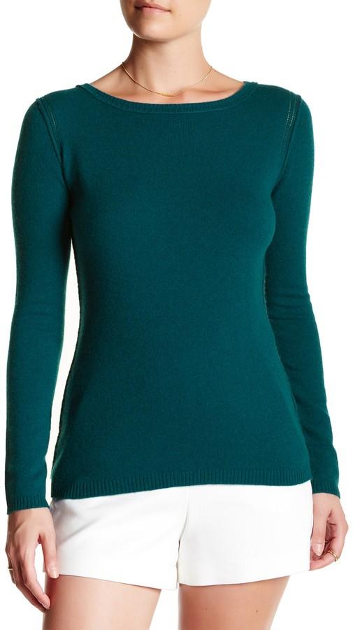 In Cashmere Cashmere Open-Stitch Pullover Sweater 12