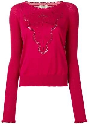 Fendi eyelet detail sweater