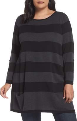 Caslon Roll Sleeve Tunic Sweater