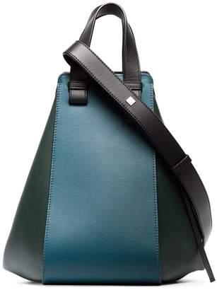 Loewe blue and green Hammock medium leather shoulder bag