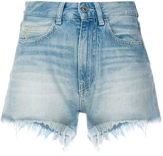 Marcelo Burlon County of Milan floral print denim shorts