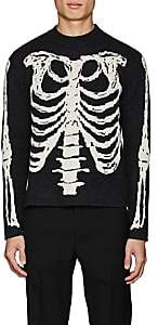 Saint Laurent Men's Skeleton-Knit Wool Sweater - Charcoal
