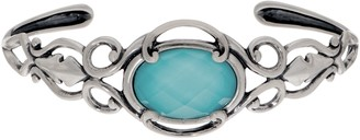 Couture Carolyn Pollack Country Sterling Silver Gemstone Doublet Cuff