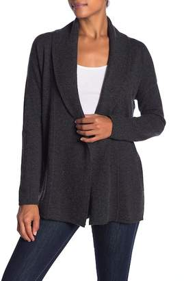 Sofia Cashmere Textured Open Front Cashmere Cardigan