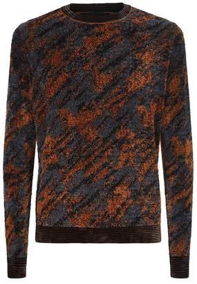 Emporio Armani Mottled Chenille Sweater