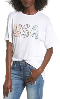 Women's Michelle By Comune Usa Graphic Tee $30 thestylecure.com