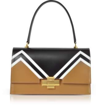 N°21 Color Block Leather Alice Satchel Bag