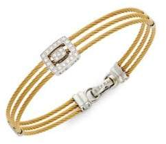 Alor 18K Yellow Gold and Stainless Steel Diamond Bracelet