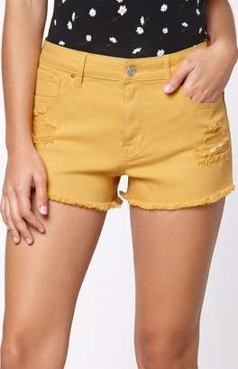 PacSun Dijon High Rise Denim Festival Shorts