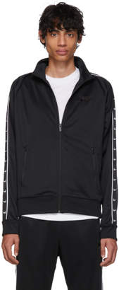 Nike Black Swoosh Tape Zip-Up Sweater