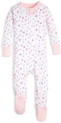 Burt's Bees Tossed Tulip Organic Baby Zip Up Footed Pajamas