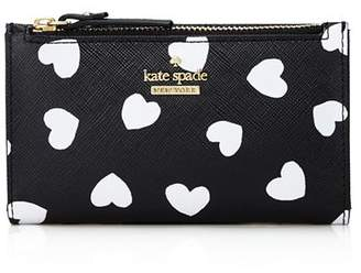 Kate Spade Cameron Street Hearts Mikey Leather Wallet