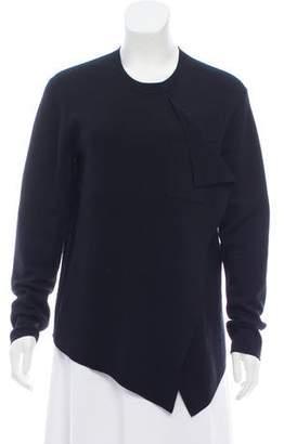 Balenciaga Wool-Cashmere Crew Neck Sweater