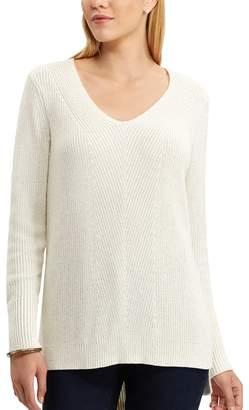 Chaps Women's Chevron V-Neck Sweater