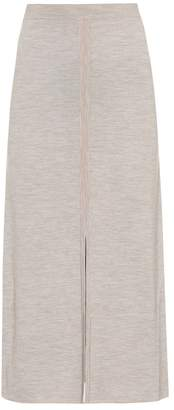 Gabriela Hearst Hodkins reversible wool and cashmere skirt