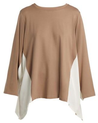 BEIGE Koché Koche - Contrast Panel Stretch Jersey Long Sleeved Top - Womens Multi