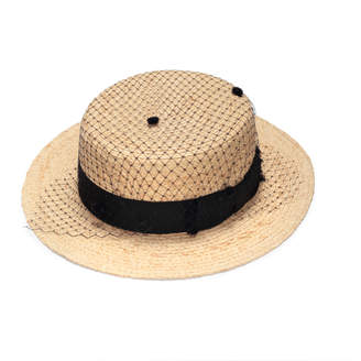 Justine Hats Romantic Boater Straw Hat