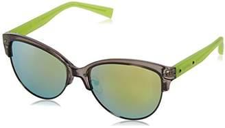Calvin Klein Women's R728S Oval Sunglasses
