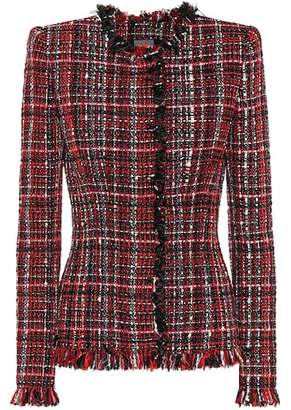 Alexander McQueen Tweed wool-blend jacket