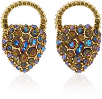 Lulu Frost Nina Crystal Heart Stud Earrings