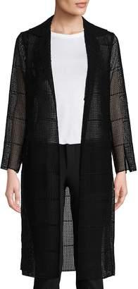 Akris Women's Open Front Semi-Sheer Silk Coat