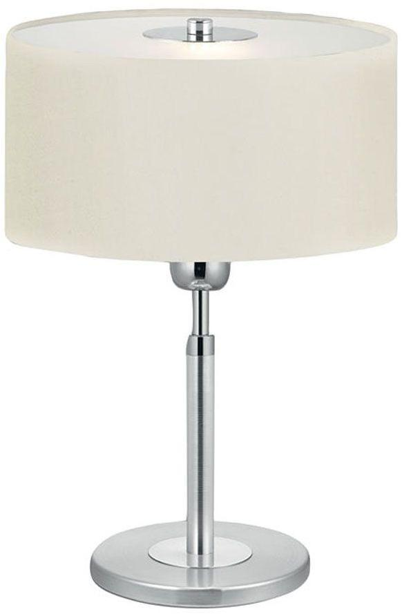Halva Eglo 15 in. 1-Light Brushed Aluminum and Chrome Table Lamp