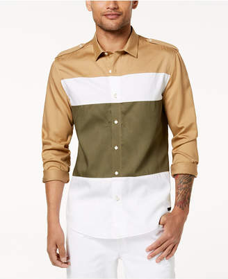 Sean John Men's Colorblocked Shirt