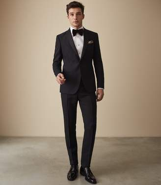 Reiss PEDESTRIAN TEXTURED DINNER SUIT Navy