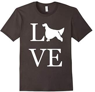 Love English Setter Shirt I Love Dogs T-Shirt Graphic Tee