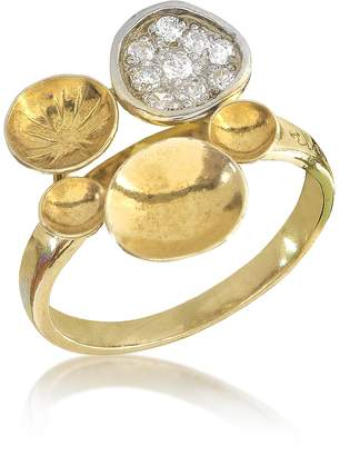 Orlando Orlandini 18K Yellow Gold Ring w/Diamond