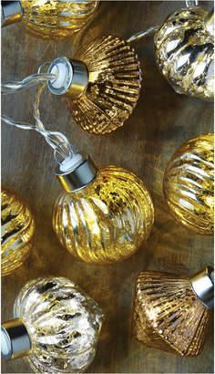 Studio Mercantile Led Novelty Mercury Glass Ornaments 10ft String Lights