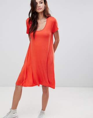 Brave Soul Swing Dress with Keyhole Back Detail